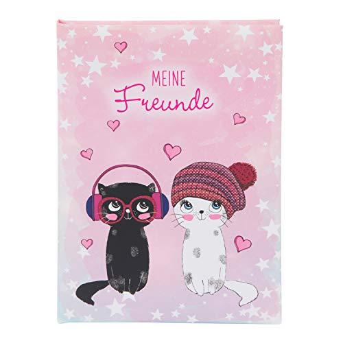 Goldbuch Music for Cats DIN A5, Libro de Amistad para Amigos, Escuela, guardería, Kita, 88 páginas ilustradas, encuadernación con impresión artística laminada, Color (Georg Brückner GmbH 43 099)
