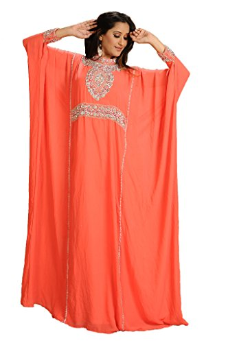 Maxim Creation Georgette Dubai Kaftan Abaya Jalabiya Jilbab - Vestido de novia