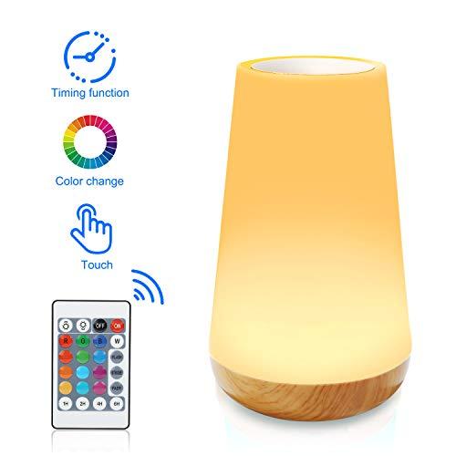 Led Smart Touch Lampe, Bunt Nachtlicht, lamp kinderzimmer, nachttisch lampe, Bewegung tisch lampe, batterie be trieben, rgb lampe mit fernbedienung, dimmbares warmweißes 3 stufiges Licht