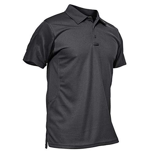MAGCOMSEN Tactical Shirt Men Polo Shirts for Men Short Sleeve T Shirts for Men Hiking Shirt Pique Polo Shirts Men Summer Shirts Golf Shirts Fishing Shirts