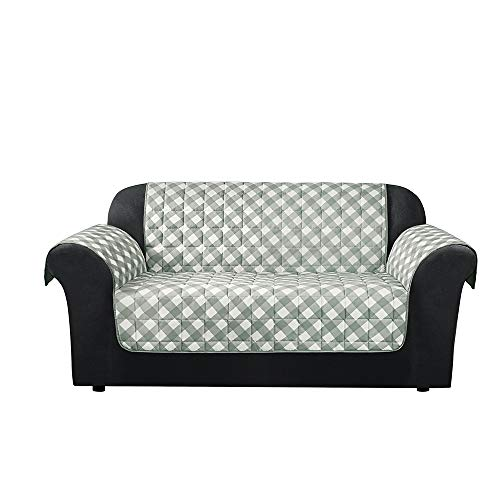 SureFit Furniture Flair - Loveseat Slipcover - Gingham Plaid