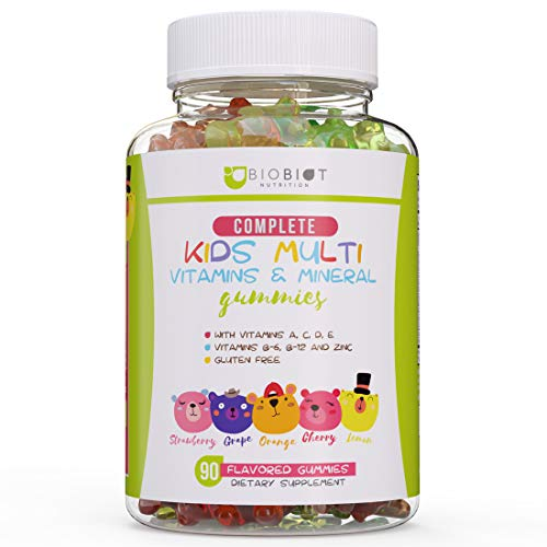 BIOBIOT Multivitamin Gummies for Kids – Gummy Bears for Children with Minerals and Vitamins B, C, E, B12, B6 – 100% Gluten Free Formula - Supports Overall Health and Fuels Growth