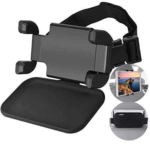 """Car Headrest Mount, VACNITE Car Tablet Holder Back Seat for Kids with 360°Rotation, Angle and Strap Adjustable Fits Most Headrests, Tablet Headrest Holder Mount for 4.7-12.9"""" iPad Air/Mini/Pro Samsung"""