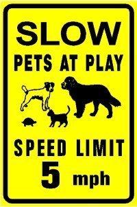 DKISEE Reflecterende teken Plaque trage huisdieren bij spelen hond kat schildpad dier waarschuwing kennisgeving aluminium metalen teken 10