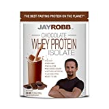 Jay Robb Whey Chocolate Isolate Protein Powder, Low Carb, Keto, Vegetarian, Gluten Free, Lactose...