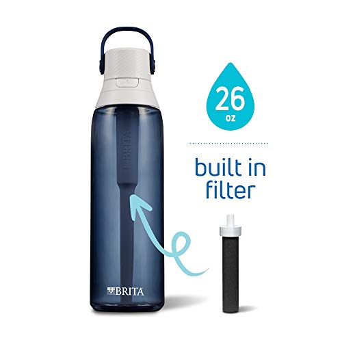 Brita Premium Filtering Water Bottle, 26 Ounce, Night Sky