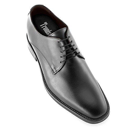 Masaltos Schuhe Herrenschuhe Die auf Unsichtbare Weise Ihre Körpergrösse bis zu 7 cm Erhöhen. Herrenschuhe mit Verstecktem Absatz. Modell Tokio Schwarz 43