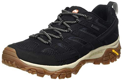 Merrell Damen Moab 2 GTX Walking-Schuh, Schwarz/Gummi, 39 EU