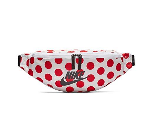 Nike Heritage Hip Bag Gürteltasche (White/red, one Size)