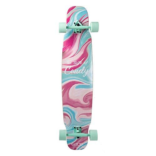 DWEMM Mini Cruiser Skateboard Vintage Complete Board, 42x9.25cm Arce Longboard Adolescente Adulto Principiante Niña Niño Niño