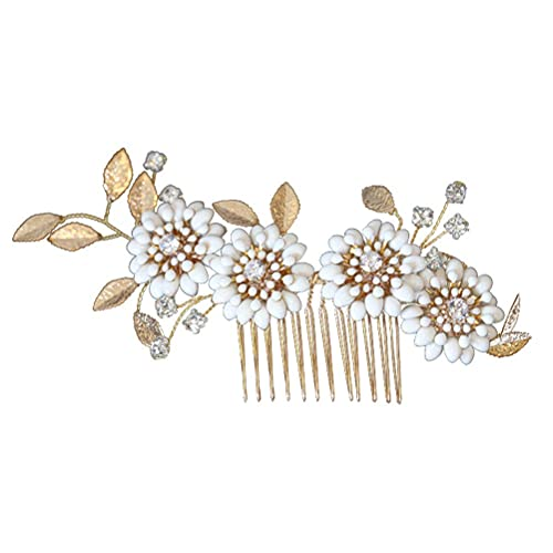 DealMux peinetas laterales con diamantes de imitación, peine para el cabello con...