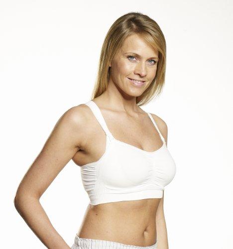 Medela - Sujetador para embarazo y lactancia, colores y tallas diferentes blanco blanco Talla:S