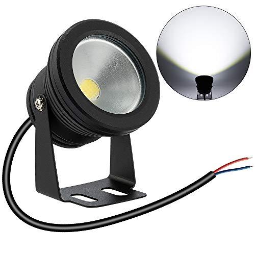 BLOOMWIN LED Spot Aquarium Étanche IP68 10W 12V Lampe Spot Éclairage Submersible Angle Réglable Lampe sous-Marine LED Submersible Décoration Bassin Piscine Aquarium Jardin Lumière Blanc