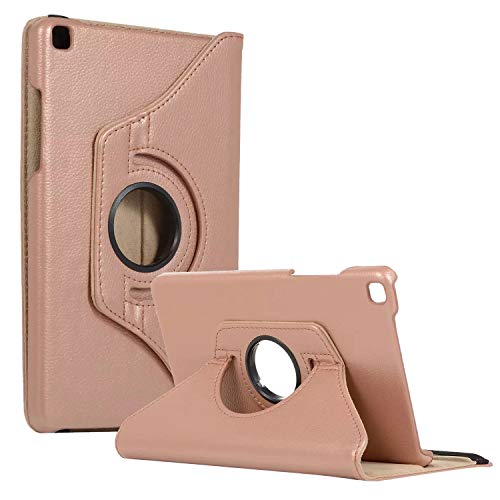 SM-T290 Rotating Case SM-T295 Cover, Galaxy Tab A 8.0 2019 Case, Coopts Slim Anti-Shock Shell 360 Degree Rotating Swivel Typing & Viewing Stand Cover for Samsung Galaxy Tab A8 T290 T295 2019, Rosegold