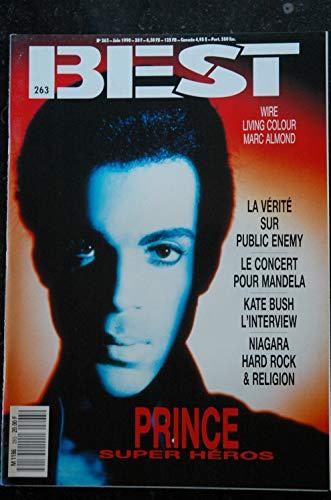 BEST 263 JUIN 1990 COVER PRINCE Wire Living Colour Marc Almond Public Enemy Mandela Kate Bush NIAGARA