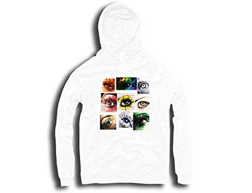 Sitcom Clothing My eyes are on you all seeing eyes artwork hommes Hoodie - Blanc - Taille L