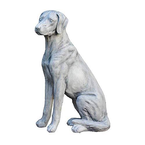 FACAZ Garden Dog Statue, Dog Sculpture Model Animal Courtyard Lawn Woodland Golden Retriever Large Retro Lawn Ornaments
