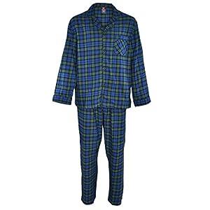 Hanes Men's 100% Cotton Flannel Plaid Pajama Top and Pant Set