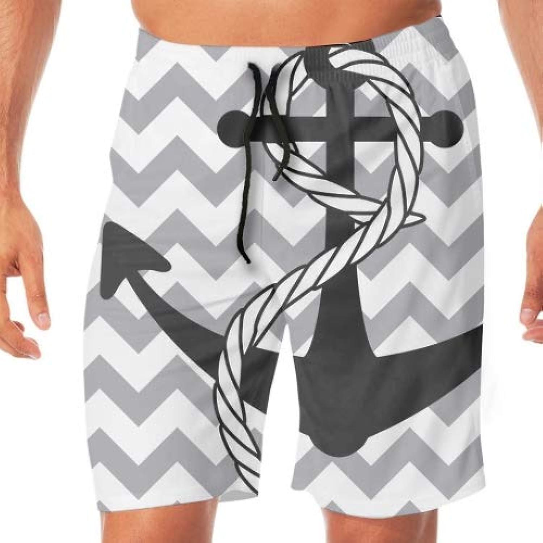 Wide Anchor水着 メンズ サーフパンツ ハーフパンツ ポケット 水泳 ショート 柄 大きいサイズ おしゃれ 速乾 ハワイ スイミング 下 男性 シンプル プール ゆったり スクール 人気