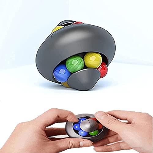 Puzzel, Fidget Toy Infinity Cube Marble, Brain Training Toy, Speed Cube Set, Stress Relief en Anti-Angst-tools voor kinderen en volwassenen,Black