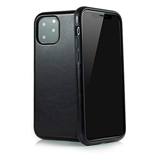 QUADOCTA Custodia per iPhone 11 PRO (6,5'), in Similpelle, con Rivestimento Morbido, Compatibile con Apple iPhone 11 PRO (Compatibile con Qi)