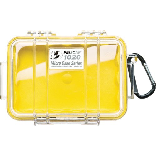 Pelican 1020 Micro Case (Yellow/Clear)