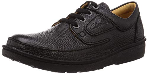 Clarks Herren Nature II Oxford-Schuh, Black, 44 EU