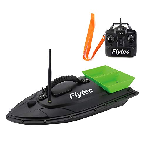 GoolRC Flytec 2011-5 RC Boat Fish Finder 1.5kg Loading Remote Control Fishing Bait Boat KIT Version DIY Boat (Green)