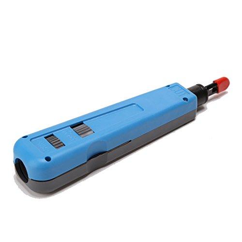 Buwico® Netwerk Kabel Impact Gereedschap Module Blok Invoegen Punch Down Tool 110 88 Type Patch Panel Hookup Tool, 110/88, Grijs