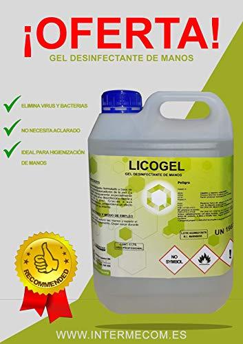 GEL HIDROALCOHOLICO ANTISEPTICO DE MANOS LICOGEL ENVASE 5L