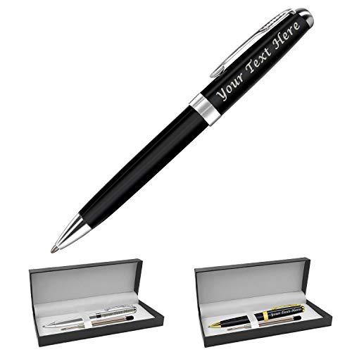 Personalisierbarer Stifteetui für Herren, Kugelschreiber mit schwarzer Tinte, personalisierbar Kugelschreiberminen