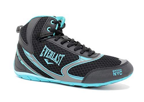 Everlast 26A3 Force Chaussures de boxe pour homme et femme Noir/turquoise Taille 39