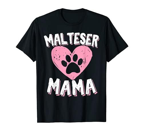 Malteser Hund | Malteser Mama Frauchen Spruch Hundebesitzer T-Shirt