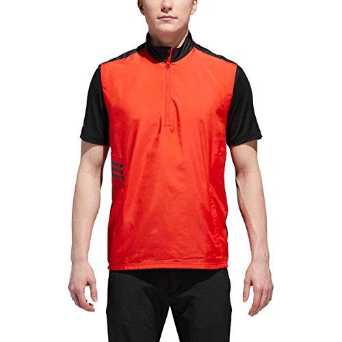 adidas Chaleco de viento para palos de golf, color rojo, XL