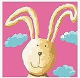 YUHHGFK Pintar por Numeros Adultos Conejo Animal Pintura al óleo de DIY por Números con Pinceles y Pinturas para Adultos y Niños Decoraciones para el Hogar- 40 x 50 cm (Sin Marco)