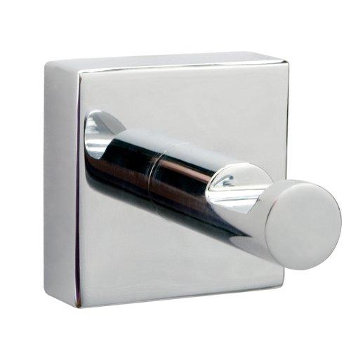 Nie Wieder Bohren hukk Badhaken, verchromt, inkl. Klebelösung, garantiert rostfrei, hohe Haltekraft (bis 5kg), 39mm x 39mm x 52mm