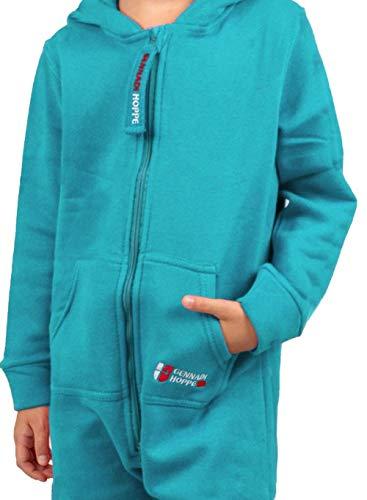 Gennadi Hoppe Kinder Jumpsuit - Jungen, Mädchen Onesie Jogger Einteiler Overall Jogging Anzug Trainingsanzug, türkis,158-164 - 5