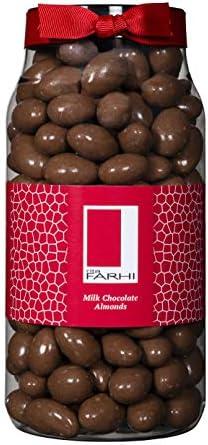 Rita Farhi Milk Chocolate Covered Brazil Nuts in a Gift Jar | Vegetarian and Chocolate Gift - Chocolate Coated Nuts - 740 g