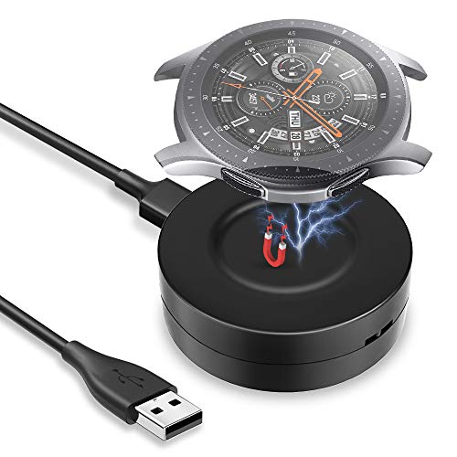 KIMILAR Cable Compatible con Samsung Galaxy Watch 42mm / 46mm / Gear S3 Cargador Magnétique Portable Base de Carga USB Repuesto Cargador Compatible con Galaxy Watch 46mm/42mm/Gear S3 Smartwatch