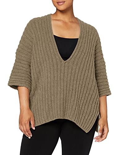 Falke Oversize neck-64029 T-Shirt Femme, Rock, FR (Taille Fabricant : XS-S)