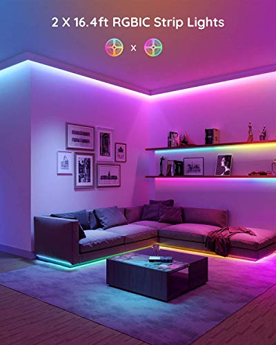 Govee Rgbic Led Strip Lights, App and Remote Control for Bedroom, Living Room, Kitchen, and Party 6