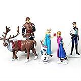 Yangzou Frozen Character Toy, 6-10 cm, Linda muñeca Realista, Creativa, Familiar, Coche, decoración, Escultura, muñeca, Regalo de cumpleaños para niños (6 Piezas / 1 Juego)