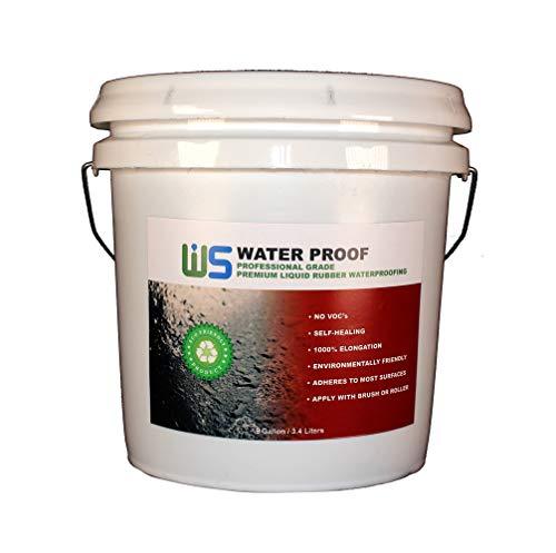 IWS Water Proof (1 Gallon) Waterproofing Coating- Easy to Apply - Premium Water Proofing - Very Versatile
