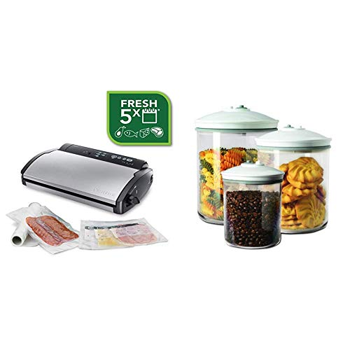 Food Saver V2860 - Envasadora al vacío, 2 tipos de envasado