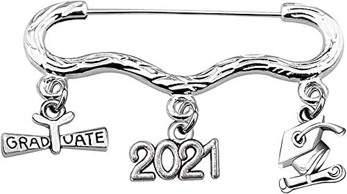 MWKL Lujoso Broche de graduación - Broche de Sombrero de Soltero de Acero Inoxidable Colgante de graduación Regalos de graduación para Todas Las Ceremonias de graduación