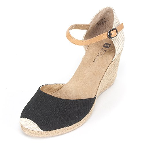 WHITE MOUNTAIN 'Mamba' Women's Wedge, Black - 7.5 M