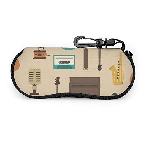 Arvolas Guitarra eléctrica Piano Violín Instrumentos musicales Estuche portátil para anteojos Estuche...