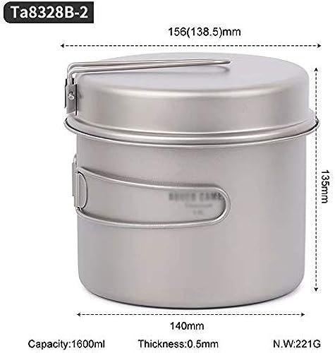 Pique-Nique Camping Randonnée Sac à Dos 1.6L Pan Cookware Outdoor Set de Bol de Cuisson