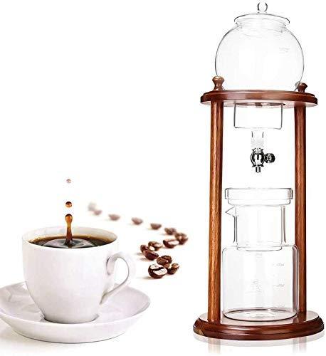 Bevroren Koffie infuus koffiezetapparaat, Houten Water Drip Coffee Brewer Machine Herbruikbare Glass Filter Gereedschap 600ml XIUYU