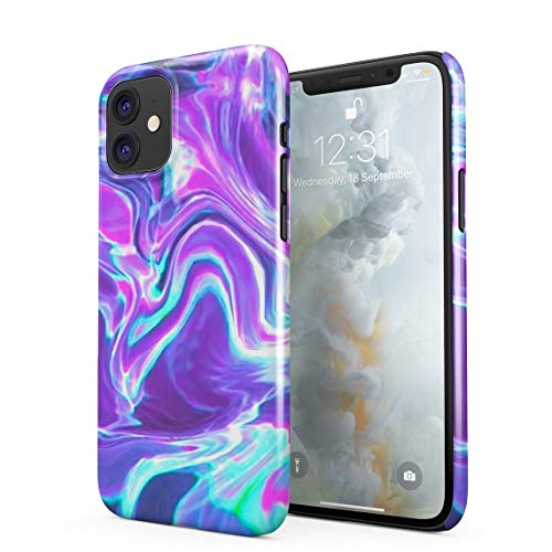 Holographic Water Print Tie Dye Rainbow Colorful Pale Rad Indie Boho Tumblr Hard Thin Plastic Phone Case Cover for iPhone 11